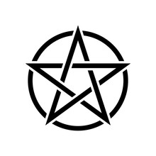 Pentacle Magic Sign. White Bac...