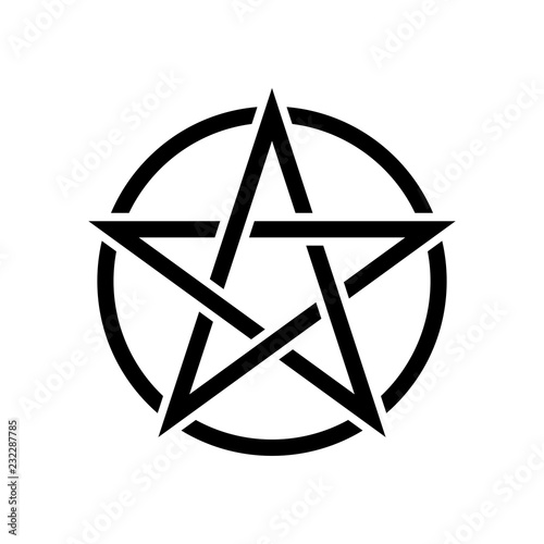 Pentacle magic sign. White background Canvas Print