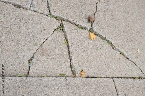 Fotografie, Obraz  concrete is broken and needs repair