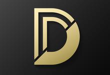 Initial D Logo Design. Vector Illustration