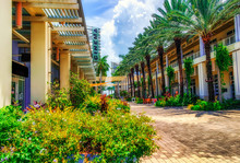 Grand Cayman, Cayman Islands, Aug 2018,The Paseo In Camana Bay A Modern Waterfront Town In The Caribbean