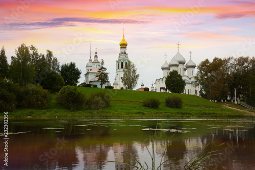 Foto op Canvas Europese Plekken Kremlin (Cathedral) Square at sunny day in Vologda, Russia