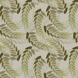 Gentle botanical composition. Seamless vector pattern background 29 - 232310778
