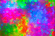 canvas print picture - abstract colorful lights for celebration textured glass, blurred
