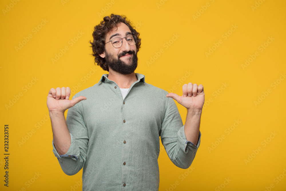Fototapety, obrazy: young bearded businessman expressing a concept