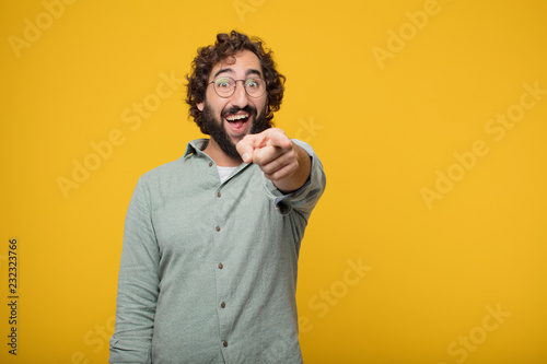 Valokuva  young bearded businessman expressing a concept