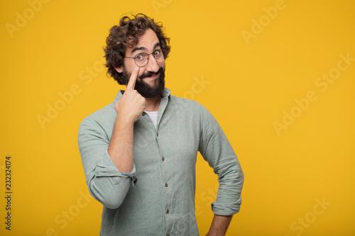 Fotografia  young bearded businessman expressing a concept