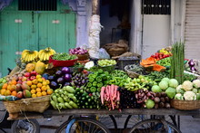 Indian Street Vendor With Fres...