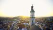 canvas print picture - Katholische Kirchenstiftung St. Georg am Marienplatz in der bayerischen Stadt Freising