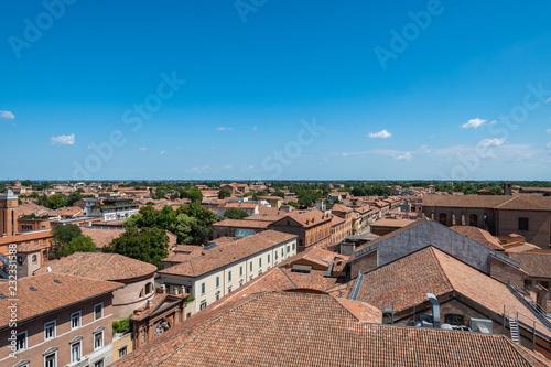 Fotografie, Obraz  View from tower of Este castle (Castello Estense), Ferrara, Italy