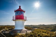 Kleiner Leuchtturm Auf Der Insel Amrum