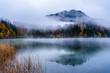 Wolken am Freibergsee, Allgäuer Alpen, Kreis Oberallgäu, Bayern, Deutschland
