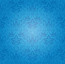 Blue Decorative Flowers,Vintag...