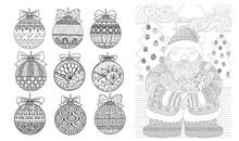 Christmas Balls And Santa Clause