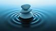 Leinwanddruck Bild - zen stones in water