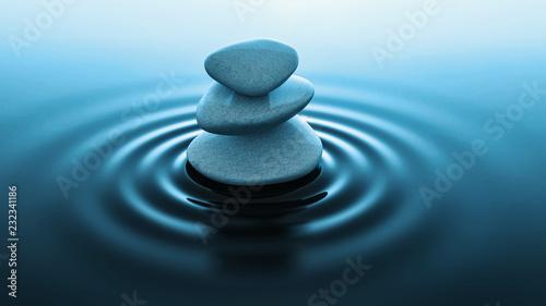 zen stones in water Canvas Print