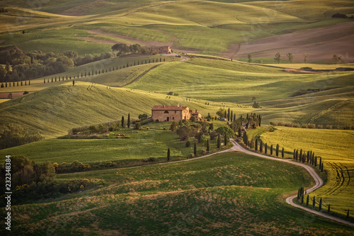 Photo  Landscape in the hills of Val d'Orcia, Tuscany, Italy