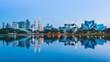 Day to Night Kuala Lumpur Cityscape Of Malaysia 4K Time Lapse (tilt down)