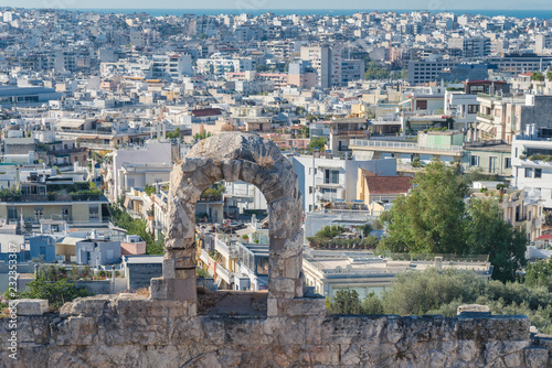Photo Part of ruins of Acropolis of Athens, Ancient Greece