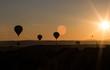 Balloon in the sunset