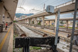 An Empty Rail Station In Salern Italy