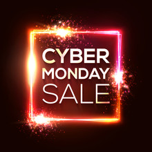 Cyber Monday Shopping Banner I...