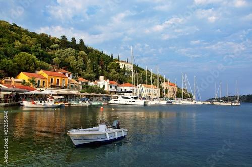 Greece, the island of Ithaki - a view of the harbor in Kioni