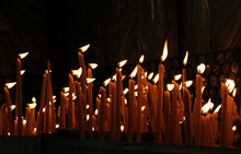 Candles In The Dark As Symbol ...