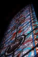 Stained Glass In Church. Chris...