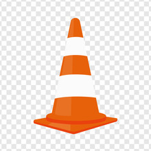 Traffic Cone. Vector Illustrat...