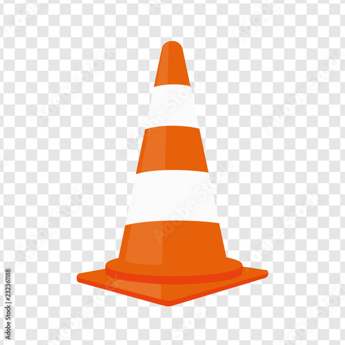 Fotografie, Obraz  Traffic cone. Vector illustration.