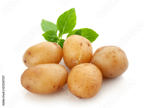 Jacket potatoes with basil