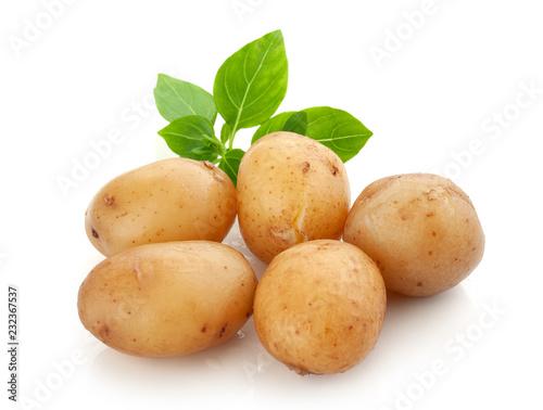 Jacket potatoes with basil