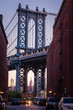 View of Manhattan Bridge from Washington Street (Dumbo), New York City, USA