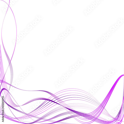 Deurstickers Abstract wave Abstract Structural Curved Pattern. Pink Lines and Purple Waves. Raster. 3D Illustration