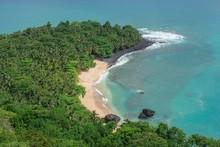 Banana-Beach, Dense Vegetation, Island Principe, Sao Tome And Principe