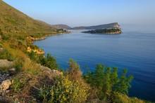 Coast, Behind Fortress Porto Palermo And Kepi I Palermos, At Himara, Albanian Riviera, Qark Vlora, Albania, Europe