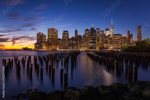 Canvas Prints Downtown Manhattan at twilight, New York City, USA