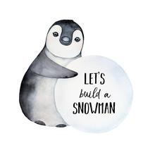 Cute Baby Penguin Character Ro...