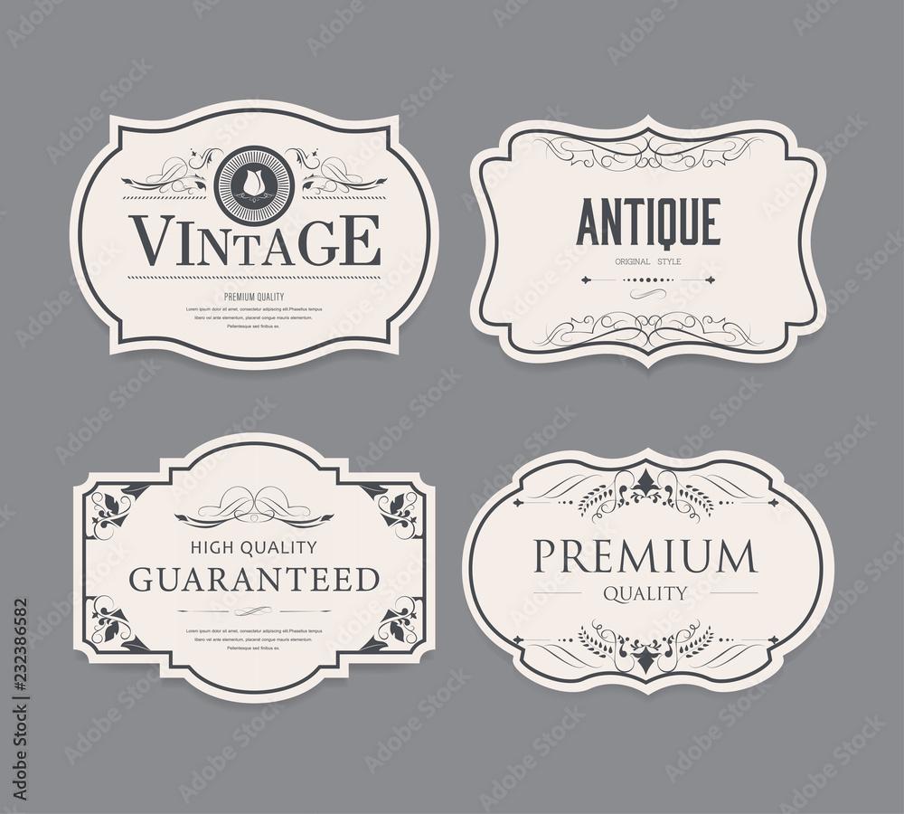 Fototapeta Set of vintage label design.