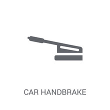 Car Handbrake Icon. Trendy Car...