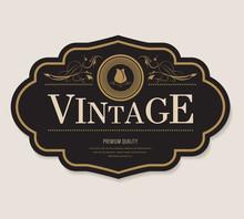 Antique Label And Vintage Banner Retro Style Frame Border.