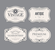 Set Of Vintage Label Design.