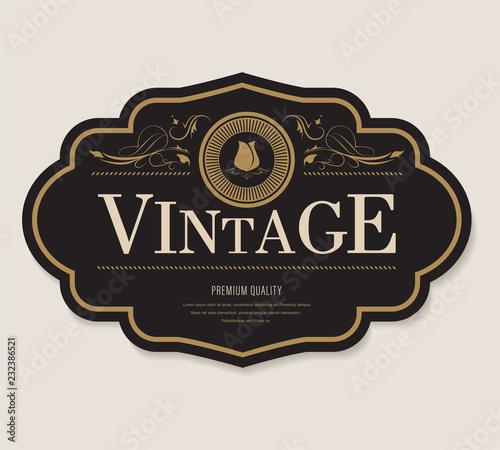 antique label and vintage banner retro style frame border. Fototapete