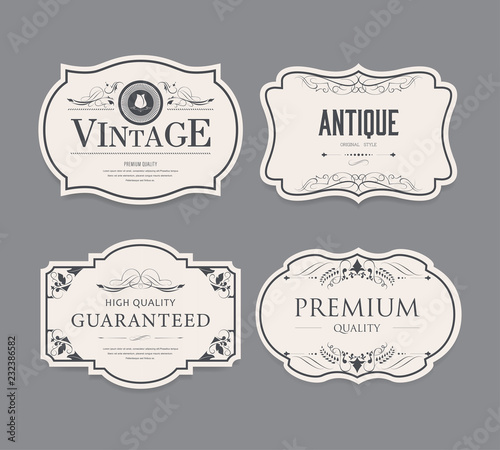Set of vintage label design. Fototapete