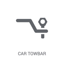 Car Towbar Icon. Trendy Car To...