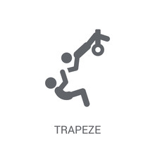 Trapeze Icon. Trendy Trapeze Logo Concept On White Background From Circus Collection