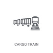 Cargo Train icon. Trendy Cargo Train logo concept on white background from Delivery and logistics collection