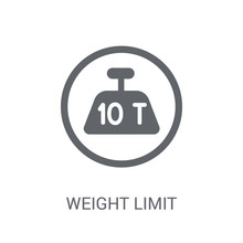 Weight Limit Icon. Trendy Weight Limit Logo Concept On White Background From Delivery And Logistics Collection