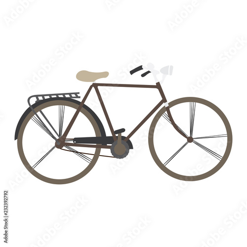 Fotobehang Fiets Isolated vintage bicycle image. Vector illustration design